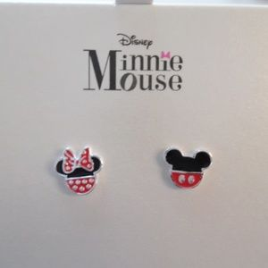 Disney Minnie Mouse Earrings Silver plated